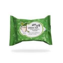 Очищающие салфетки Esfolio Pure Skin Green Tea Facial Cleansing Tissue