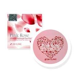 3W CLINIC Pink Rose Vitamin Hydrogel Eye Patch. Витаминные гидрогелевые патчи c экстрактом розовой розы