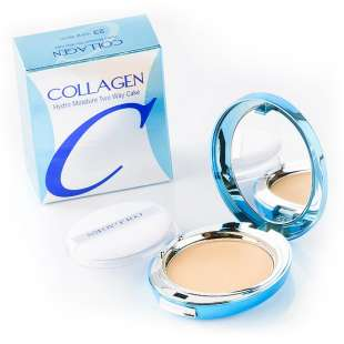 Enough Collagen Twoway Cake. Увлажняющая пудра с коллагеном