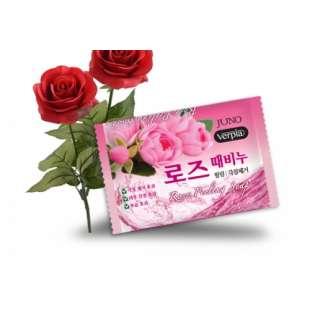 JUNO Verpia Пилинг мыло с розой