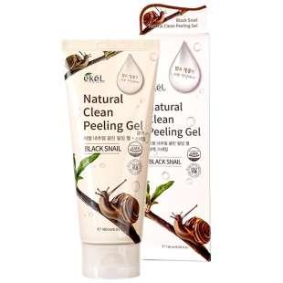 EKEL Natural Clean Peeling Gel Black Snail. Пилинг-скатка (черная улитка)
