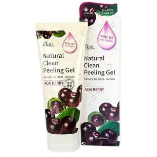 EKEL NATURAL CLEAN PEELING GEL(ACAI BERRY) Пилинг-скатка с экстрактом ягоды Асаи