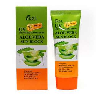 Ekel Aloe Vera Sun Block SPF 50 PA+++. Солнцезащитный крем (алоэ)