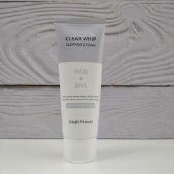 Medi Flower Mud&BHA Clear Whip Cleansing Foam Пенка для умывания с глиной и салициловой кислотой