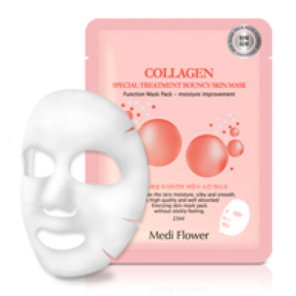Medi Flower Special Treatment Bouncy Mask pack (Collagen) Тканевая маска с коллагеном