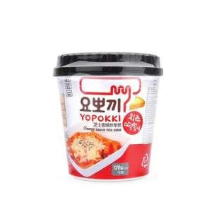 Yopokki Cheese Tokpokki Cup 120g. Токпоки с сырным соусом в стакане