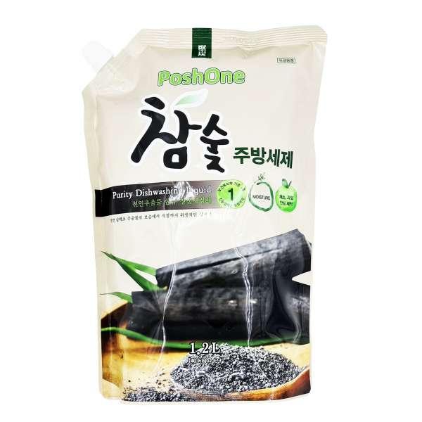 Натуральное средство для мытья посуды на основе древесного угля
