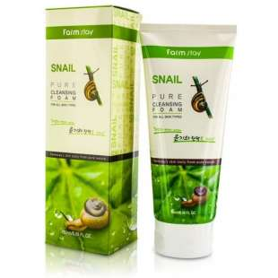 FarmStay Snail Pure Cleansing Foam Пенка для умывания на основе слизи улитки