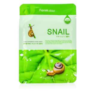 Snail Face mask sheet Тканевая маска восстанавливающая с муцином улитки