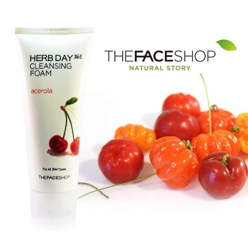 Картинки по запросу he Face Shop Herb Day 365 Acerola Cleansing Foam
